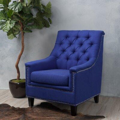 Highbury Fabric Armchair Upholstery: Royal Blue