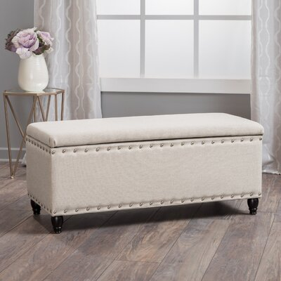 Hollins Storage Ottoman Upholstery: Wheat Cream