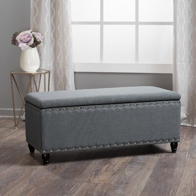 Hollins Storage Ottoman Upholstery: Charcoal