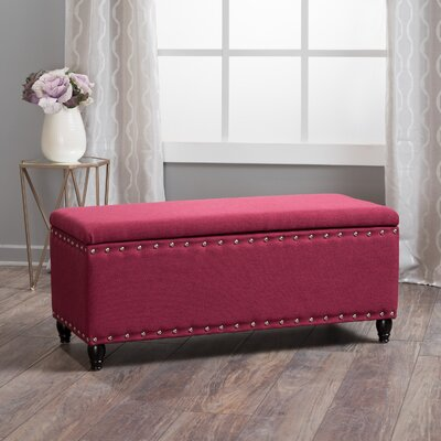 Hollins Storage Ottoman Upholstery: Deep Red