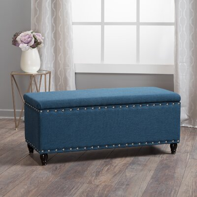 Hollins Storage Ottoman Upholstery: Navy Blue