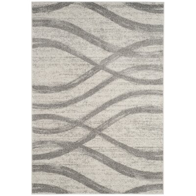 Marlee Cream/Gray Area Rug Rug Size: Rectangle 51 x 76