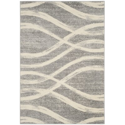 Marlee Gray/Cream Area Rug Rug Size: Rectangle 51 x 76