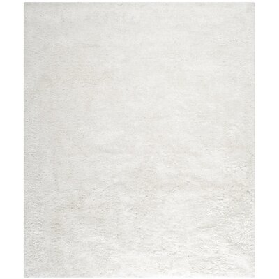 Maya Snow White Shag Rug Rug Size: Rectangle 8 x 10