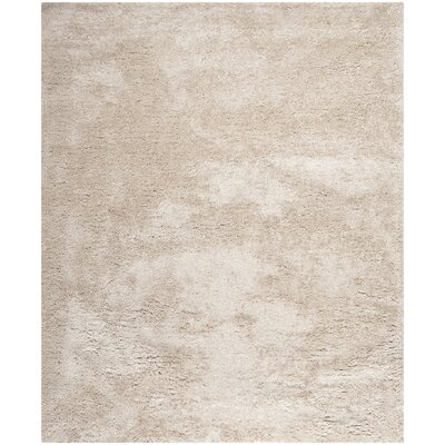 Maya Champagne Shag Area Rug Rug Size: Rectangle 8 x 10