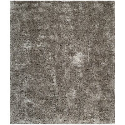 Maya Silver Shag Area Rug Rug Size: Rectangle 8 x 10
