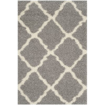 Charmain Gray/Ivory Area Rug Rug Size: Rectangle 51 x 76