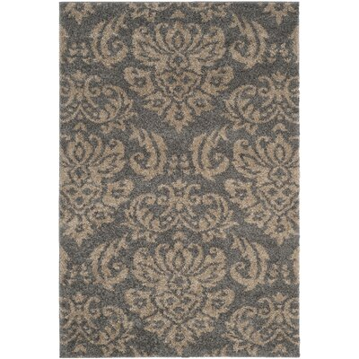 Steephill Gray/Beige Area Rug Rug Size: Rectangle 53 x 76