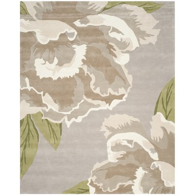 Celestine Light Gray/Brown Area Rug Rug Size: Rectangle 8 x 10