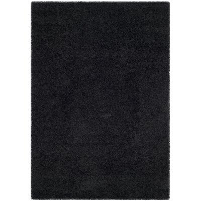 Beldon Power Loom Black Area Rug Rug Size: Rectangle 53 x 76