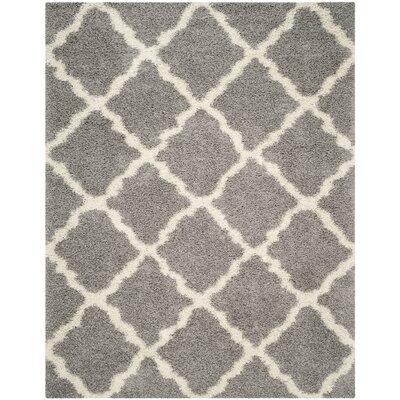 Charmain Gray/Ivory Area Rug Rug Size: Rectangle 8 x 10
