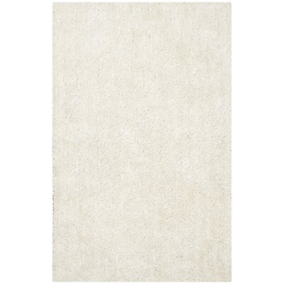 Maya Hand-Tufted/Hand-Hooked Off White Area Rug Rug Size: Rectangle 5 x 8