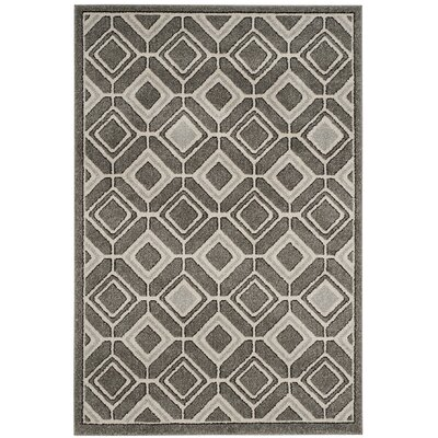 Maritza Gray/Light Gray Indoor/Outdoor Wool Area Rug Rug Size: Rectangle 4 x 6