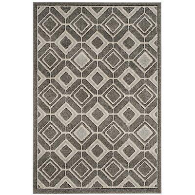 Maritza Gray/Light Gray Indoor/Outdoor Wool Area Rug Rug Size: Rectangle 4 x 6