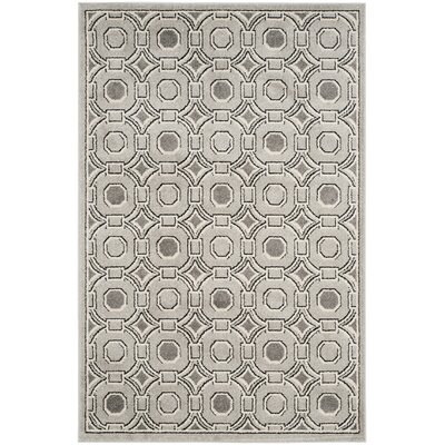 Maritza Light Gray/Ivory Indoor/Outdoor Area Rug Rug Size: Rectangle 4 x 6