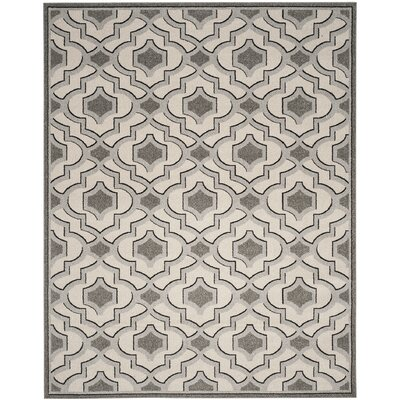 Maritza Wool Ivory/Gray Indoor/Outdoor Area Rug Rug Size: Rectangle 8 x 10