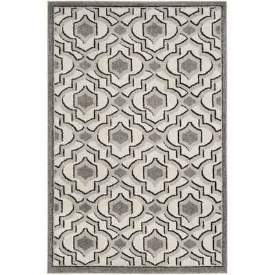 Maritza Wool Ivory/Gray Indoor/Outdoor Area Rug Rug Size: Rectangle 4 x 6