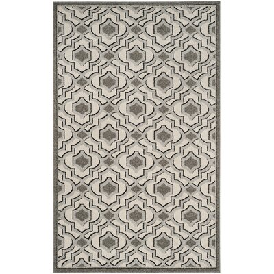 Maritza Wool Ivory/Gray Indoor/Outdoor Area Rug Rug Size: Rectangle 6 x 9