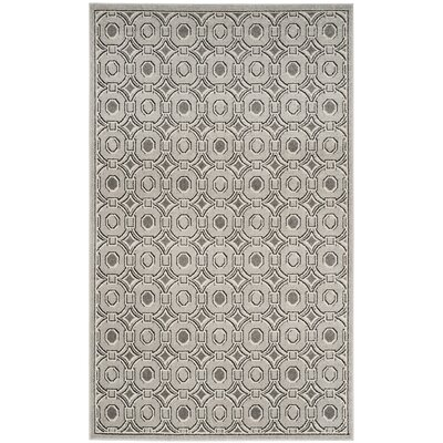 Maritza Light Gray/Ivory Indoor/Outdoor Area Rug Rug Size: Rectangle 5 x 8