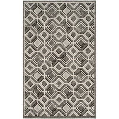 Maritza Gray/Light Gray Indoor/Outdoor Wool Area Rug Rug Size: Rectangle 5 x 8