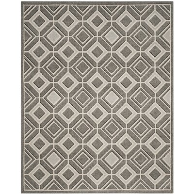 Maritza Gray/Light Gray Indoor/Outdoor Wool Area Rug Rug Size: Square 7