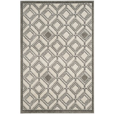Maritza Ivory/Light Gray Indoor/Outdoor Area Rug Rug Size: Rectangle 4 x 6