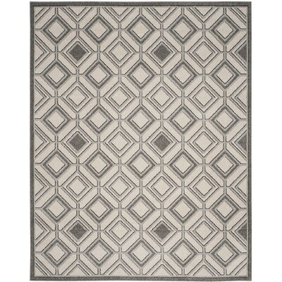 Maritza Ivory/Light Gray Indoor/Outdoor Area Rug Rug Size: Rectangle 8 x 10