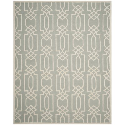 Mcguire Hand-Tufted Gray/Ivory Area Rug Rug Size: Rectangle 8 x 10