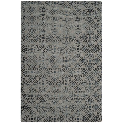 Mcguire Hand-Tufted Ivory/Silver Area Rug Rug Size: Rectangle 5 x 8