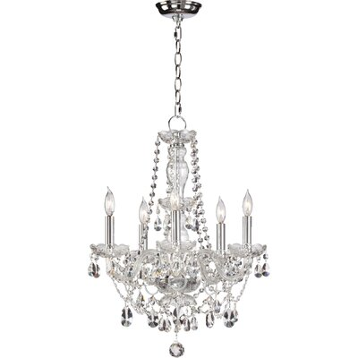 Evgenia Traditional 5-Light Crystal Chandelier