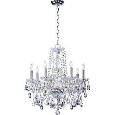 Evgenia 8-Light Crystal Chandelier Color: Cognac