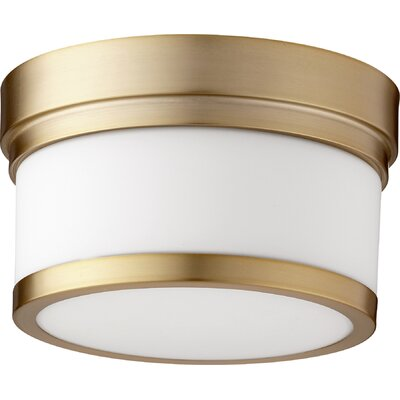 Dian 1-Light Flush Mount Finish: Aged Brass