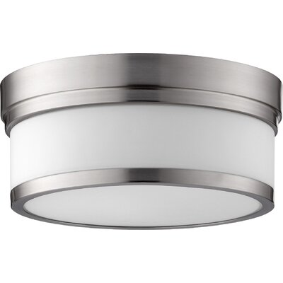 Dian 2-Light Flush Mount Finish: Satin Nickel