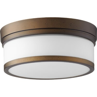 Dian 2-Light Flush Mount Finish: Oiled Bronze
