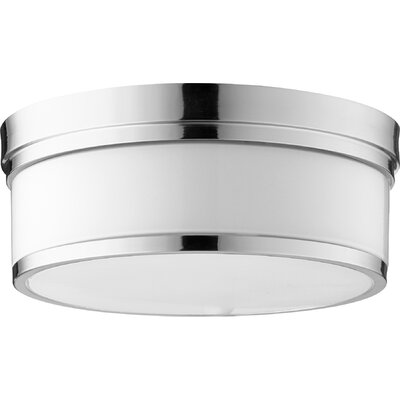 Dian 3-Light Flush Mount Finish: Polished Nickel