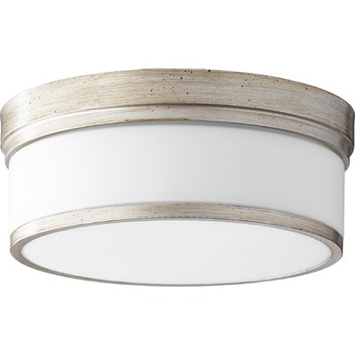 Dian 3-Light Flush Mount Finish: Aged Silver Leaf