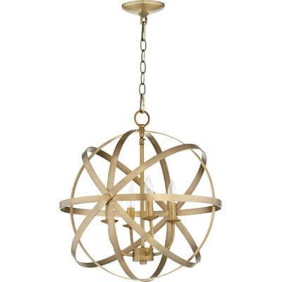 Dian 4-Light Candle-Style Chandelier Finish: Aged Brass
