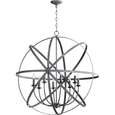 Dian 8-Light Metal Candle-Style Chandelier Finish: Zinc