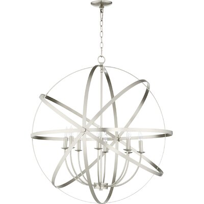 Dian 8-Light Candle-Style Chandelier Finish: Satin Nickel