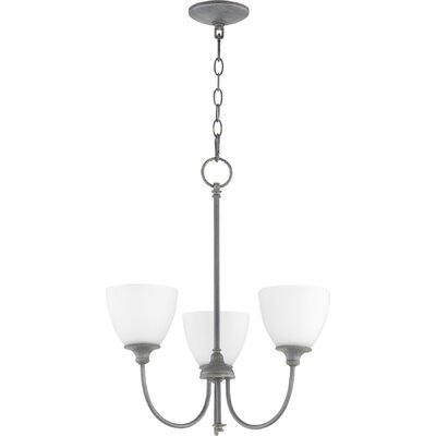 Dian 3-Light Shaded Chandelier Finish: Zinc