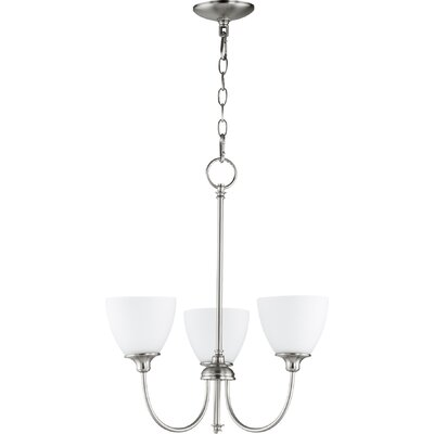 Dian 3-Light Shaded Chandelier Finish: Satin Nickel