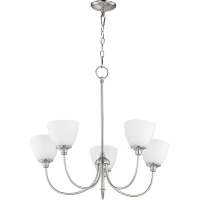 Dian 5-Light Shaded Chandelier Finish: Satin Nickel