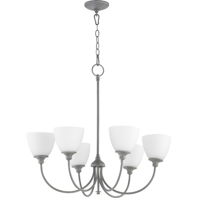 Dian 6-Light Shaded Chandelier Finish: Zinc