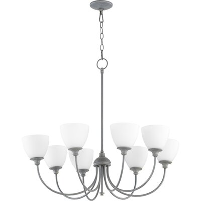 Dian 8-Light Shaded Chandelier Finish: Satin Nickel