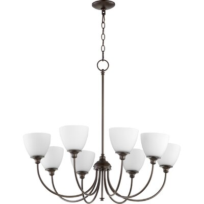 Dian 8-Light Shaded Chandelier Finish: Oiled Bronze