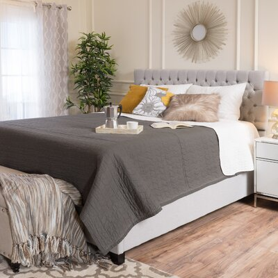 Hyannis Queen Upholstered Platform Bed Color: Light Gray