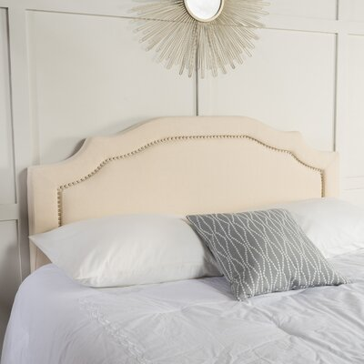 Aulay Full/Queen Upholstered Panel Headboard Upholstery: Beige