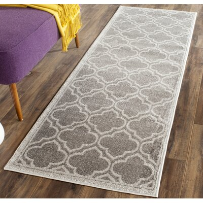 Maritza Gray Outdoor Area Rug Rug Size: Runner 23 x 15