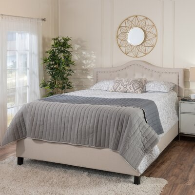 Auda Queen Upholstered Panel Bed Color: Ivory