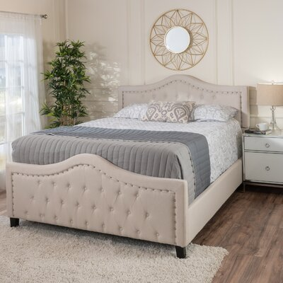 Chandler Queen Upholstered Panel Bed Color: Ivory